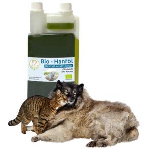 Bio Hanföl für die Haut- und Fellpflege